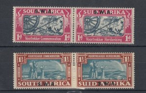 South West Africa 1938 Voortrekker SG109/110 MLH J8406