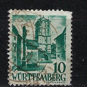 Germany - under French occupation Scott # 8N33, used