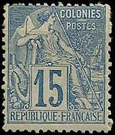 French Colonies  - 51 - Unused - SCV-16.00