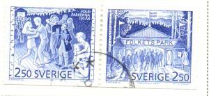 Sweden Sc 1889-90 1991 Public Parks stamps used