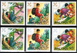 Bhutan  #134-139  Scouts Mint NH CV $3.90