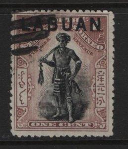 LABUAN, 72, USED, 1897-1900, DYAK CHIEFTAIN