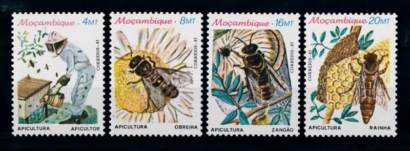 [70404] Mozambique 1985 Insects Bee Beekeeper  MNH