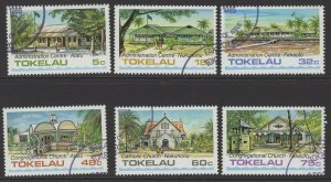 TOKELAU ISLANDS SG124/9 1985 ARCHITECTURE FINE USED