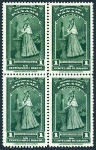 Panama 343 block/4,MNH.Michel 313. Farm Girl in work dress,1942.