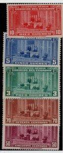 Ecuador C114-C118 Set. Mint Hinged