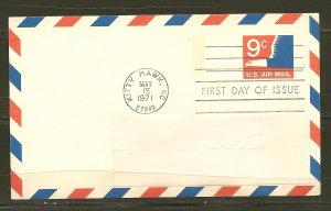 USA UXC10 Eagle 1971 Postcard First Day Cover