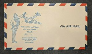 1938 Bristol Virginia National Airmail Week Airmail Cover