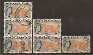 Bahamas 1954 High Values Fine Used