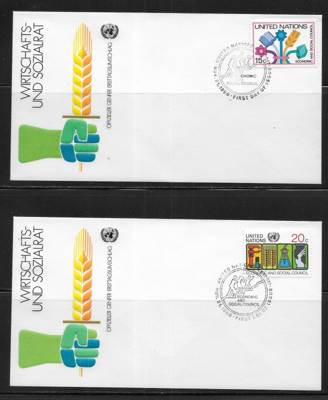 United Nations 341-42 ESC Geneva Cachet FDC First Day Cover