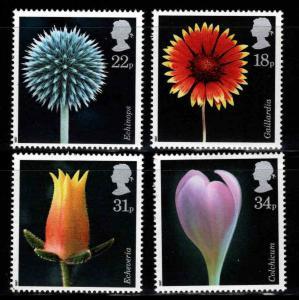 Great Britain Scott 1168-1171 MNH** 1987 Flora Photograph set