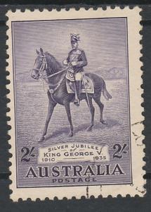 AUSTRALIA 1935 KGV SILVER JUBILEE 2/- USED