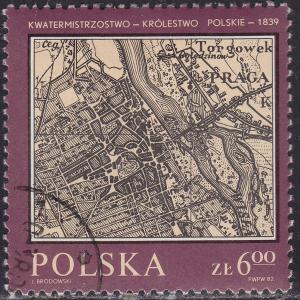 Poland 2551 USED 1982 Maps of Poland
