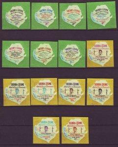 J24468 JLstamps 1964 sierra leone set mnh #264-70,c21-7 kennedy