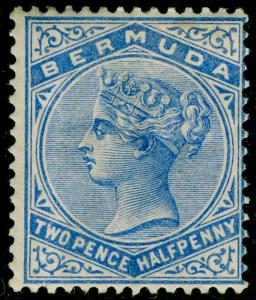 BERMUDA SG27b, 2½d pale ultramarine, M MINT. Cat £19.