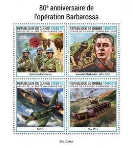 GUINEA - 2021 - Operation Barbarossa - Perf 4v Sheet -Mint Never Hinged
