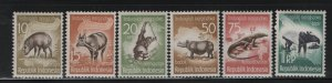 Indonesia 473-478 (6) Set, Hinged, Issued to publicize wildlife preservation