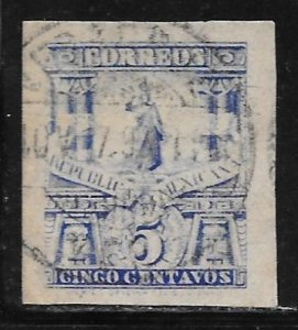 Mexico 247a: 5c Statue of Cuauhtemoc, imperf, wide margins, used, VF