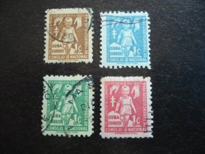 Stamps - Cuba - Scott# RA30-RA33 - Used Set of 4 Stamps