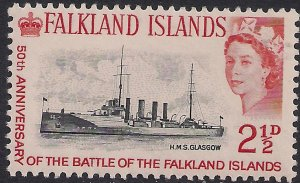 Falkland Islands 1964 QE2 2 1/2d Anniv Falklands Umm SG 215 ( J922 )