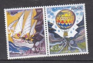 J26223  jlstamps 2004 greece set pairs mnh #2110 europa