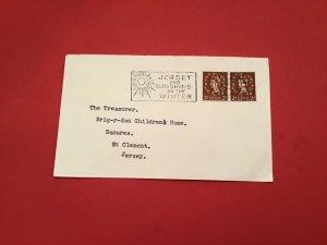 U.K Jersey for Winter Sunshine 1975 Special Cancel stamp cover R36060