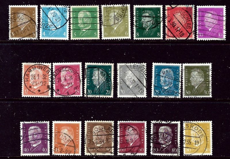 Germany 366-84 Used 1928-32 Definitive set  2017 CV $35.75