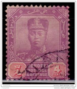 Malaya Johore, 1912-19, Sultan Ibrahim, 4c, Scott# 79, used