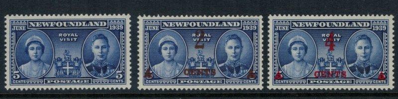 Newfoundland #249-51* CV $3.75