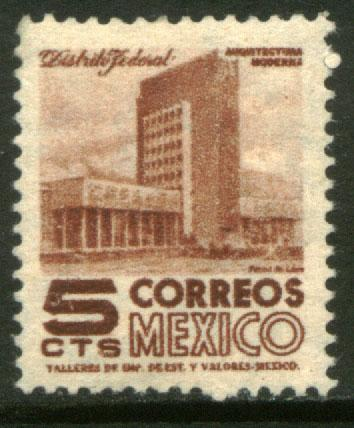 MEXICO 857 5cents 1950 Definitive 1st Printing wmk 279 MNH