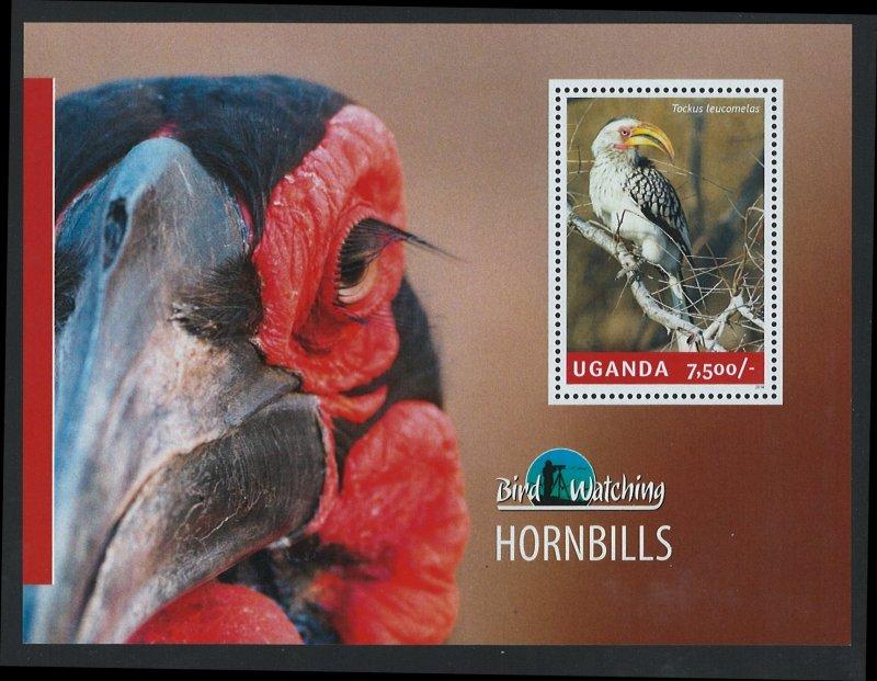 Uganda Scott 2127 MNH! Hornbills! Souv. Sheet!