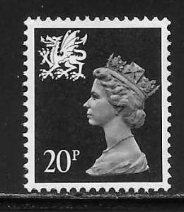 Great Britain Wales WMMH38 20p Machin MNH