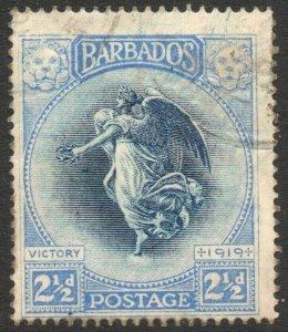 BARBADOS-1920-21 Victory 2½d Indigo & Ultramarine Sg 205 AVERAGE USED V46261