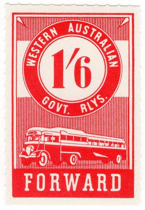 (I.B) Australia - Western Australia Railways : Parcels 1/6d