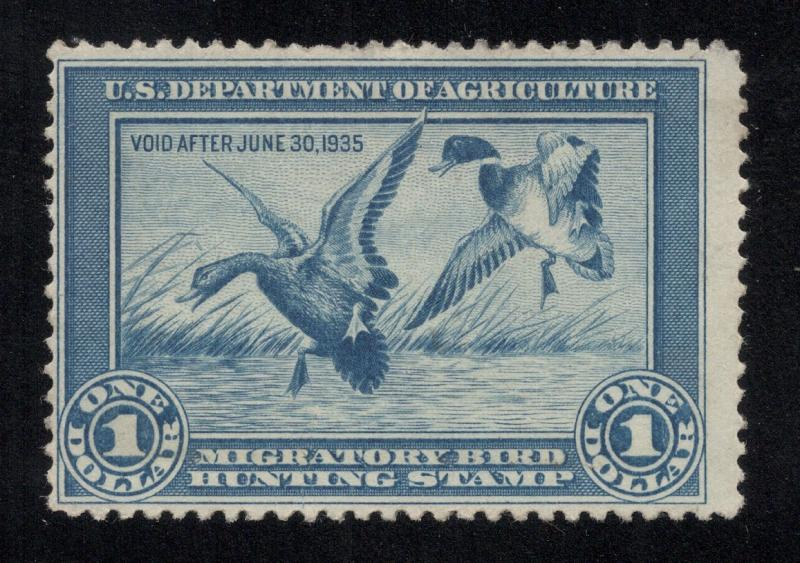 RW1 Blue - First Duck Stamp - Unused