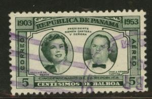 Panama  Scott C141 Used 1953 airmail stamp