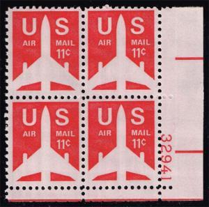 US #C78 Jet Airliner P# Block of 4; MNH (0.90)