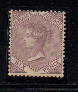 Jamaica Sc 51 1909 6d dull violet Victoria stamp mint