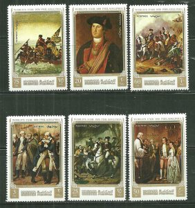 Manama MNH Set Of 6 George Washington