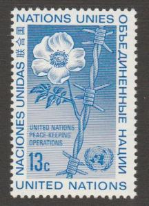265 MNH  UN  poppy and barbedwire