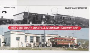 Isle of Man Centenary Snaefell Mountain Railway Stamps Booklet M. N. H. Rf 28548