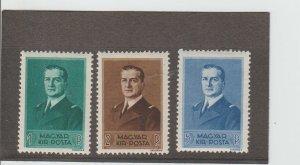 Hungary  Scott#  525-527  MH  (1938 Admiral Horthy)