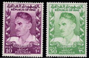 IRAQ Scott  258-259 MH*  1960 set