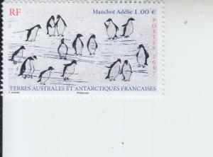 2017 FSAT Fr Antarctic Adelie Penguins on Ice Floe (Scott 575) mnh