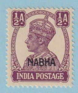 INDIA - NABHA STATE 101 MINT NEVER HINGED OG ** NO FAULTS EXTRA FINE !