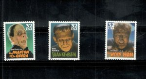 3170 Boris Karloff (Frankenstein) Single Stamp Mint/nh FREE SHIPPING