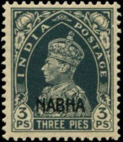 India - Nabha  SC# 87 SG# 95 George VI 3ps  MH