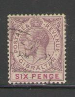Gibraltar Sc 82 1926 6d George V stamp used