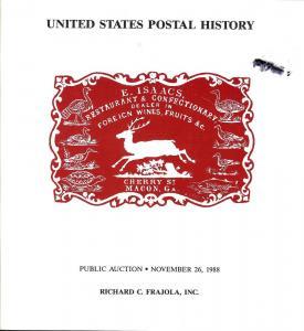 Frajola: Sale # 38  -  United States Postal History, Fraj...