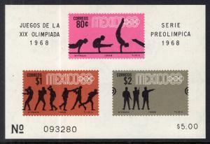 Mexico 995a Summer Olympics Souvenir Sheet MNH VF